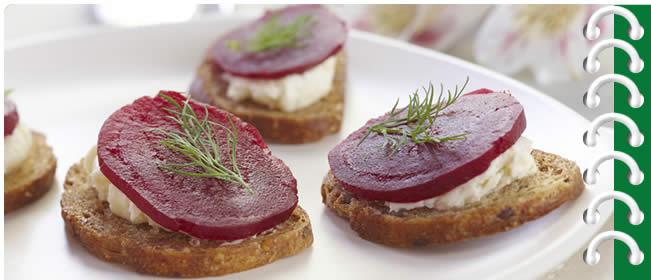 Beet & Horseradish Bites