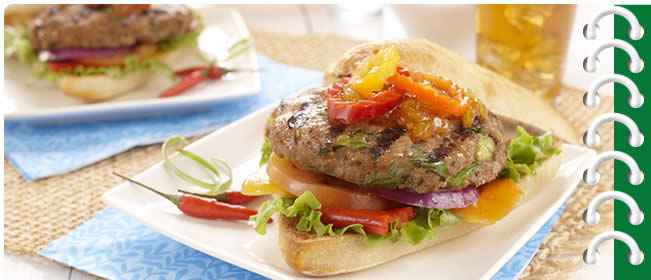 Asian Style Turkey Burgers