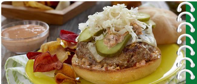The Reuben Burger