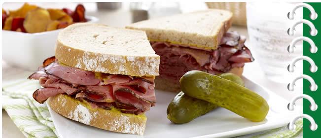 Deli Sandwich and a Dill