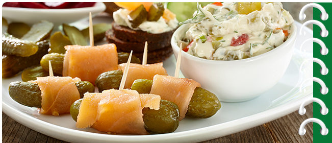 Smoked Salmon Platter with Dill Pickle Cream Cheese