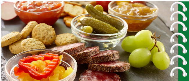 Spicy Charcuterie Platter with Hot and Spicy Spread<br />