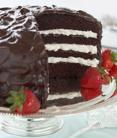 Chocolate Strawberry Torte