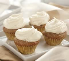Mini Carrot Cupcakes with Cream Cheese Icing