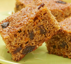 Carrot Raisin Bars