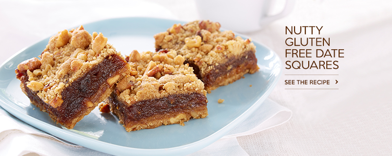 Nutty Gluten Free* Date Squares