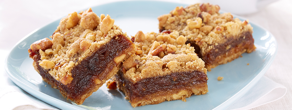 Nutty Gluten Free Date Squares | Recipes