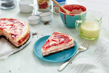 Cherry Swirled Cheesecake