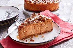 Maple Pecan Pumpkin Cheesecake