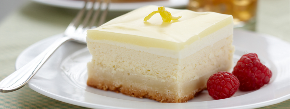 Lemon Glazed Cheesecake Squares | Recipes