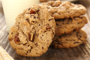 Chocolate Caramel Pecan Cookies