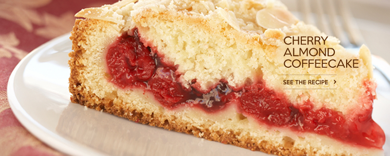 Cherry Almond Coffeecake