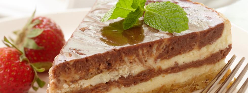 Chocolate Hazelnut Swirl Cheesecake | Recipes