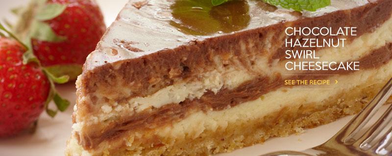 Chocolate Hazelnut Swirl Cheesecake