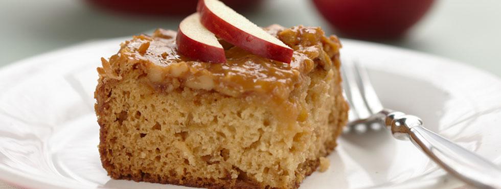 Moist & Chewy Caramel Apple Cake | Recipes