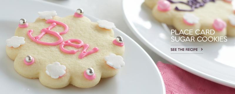 Place Card Sugar Cookies