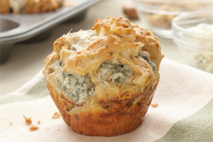 Blue Cheese and Walnut Muffins