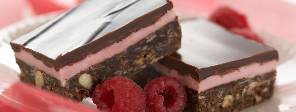 Raspberry Nanaimo Bars | Recipes