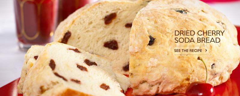 Dried Cherry Soda Bread