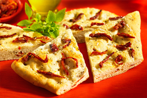 Sun-Dried Tomato and Basil Focaccia