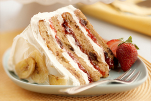 Banana Split Layer Cake