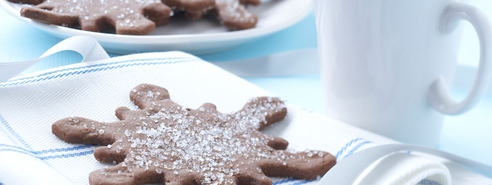 Ginger Snowflake Sparkler Cookies | Recipes