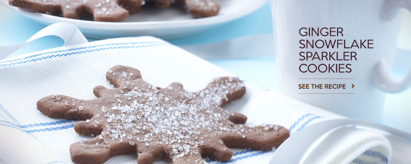 Ginger Snowflake Sparkler Cookies