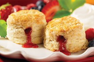 Strawberry Jam Scones