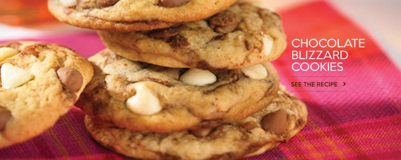 Chocolate Blizzard Cookies