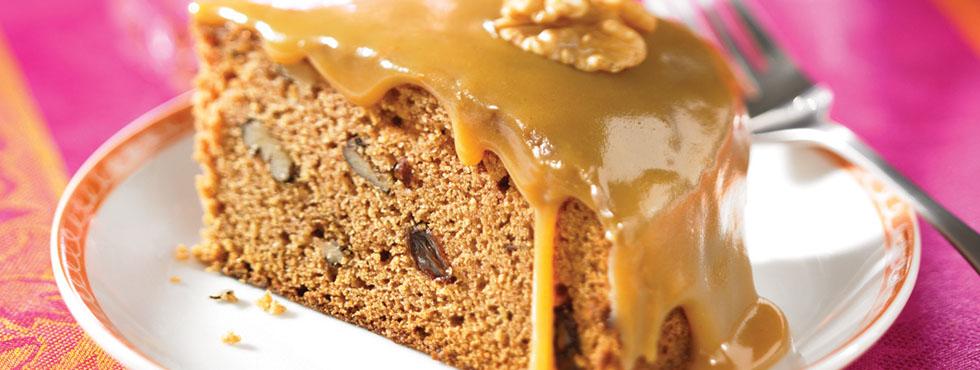 Applesauce Cake with Caramel Icing | Recipes