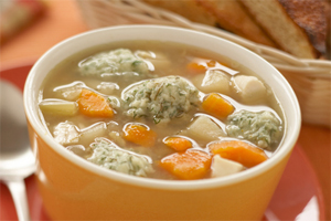 Chicken Soup with Dill Dumplings