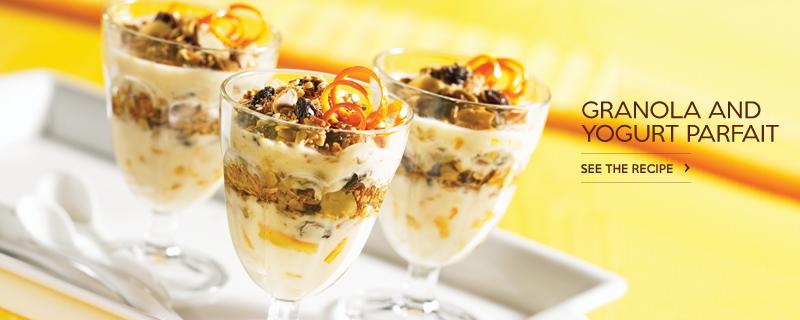 Granola and Yogurt Parfait