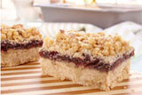 Raspberry Raisin Ribbon Bars