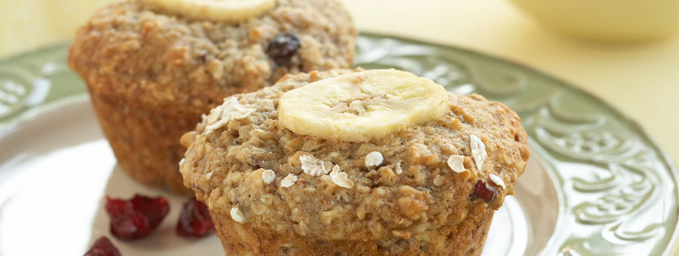 Cranberry Banana Oat Muffins | Recipes