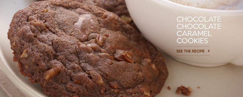 Chocolate Chocolate Caramel Cookies