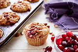 Apple Cranberry Crumble Muffins