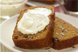 Pumpkin Harvest Loaf with Orange Cream Cheese Spread