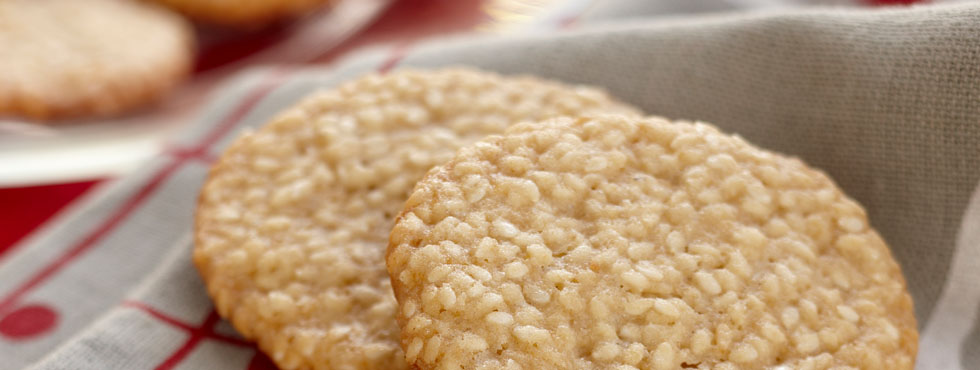 Sesame Snap Wafers | Recipes