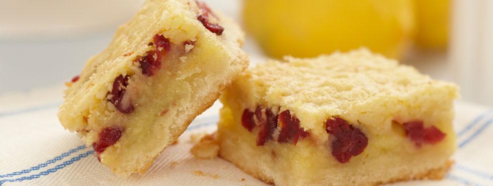Lemon Almond Cranberry Squares | Recipes