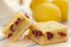 Lemon Almond Cranberry Squares