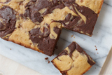 Peanut Butter & Chocolate Marble Brownies