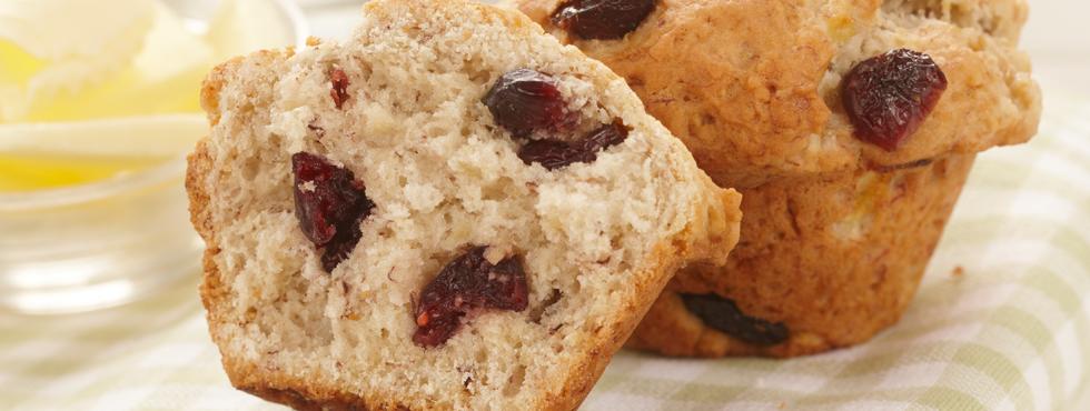 Banana Cranberry Muffins | Recipes