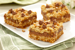 Chocolate Toffee Almond Squares