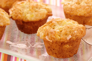 Coconut Pineapple Mini Muffins