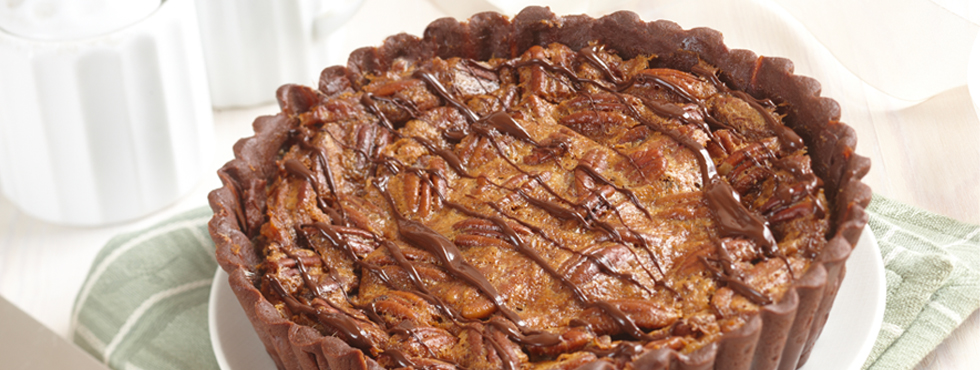 Black Bottom Chocolate Pecan Pie | Recipes