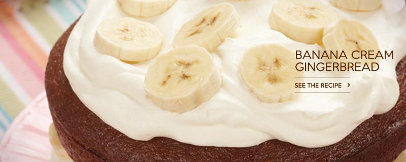 Banana Cream Gingerbread