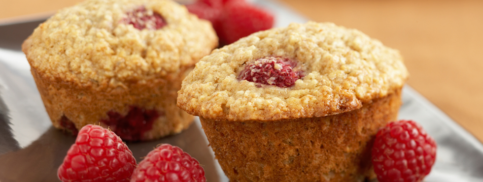 Raspberry Oat Muffins | Recipes