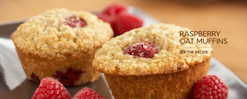 Raspberry Oat Muffins