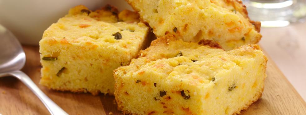 Cheesy Corn Bread | Recipes