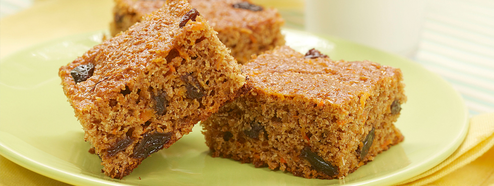 Carrot Raisin Bars | Recipes
